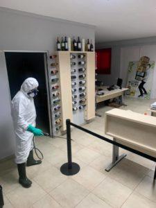 desinfeccion coronavirus empresa cruzcampo Écija